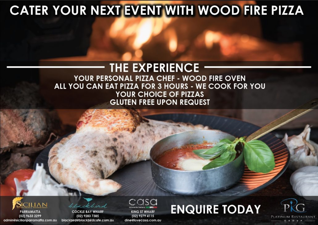 let casas wood fire pizza come to you