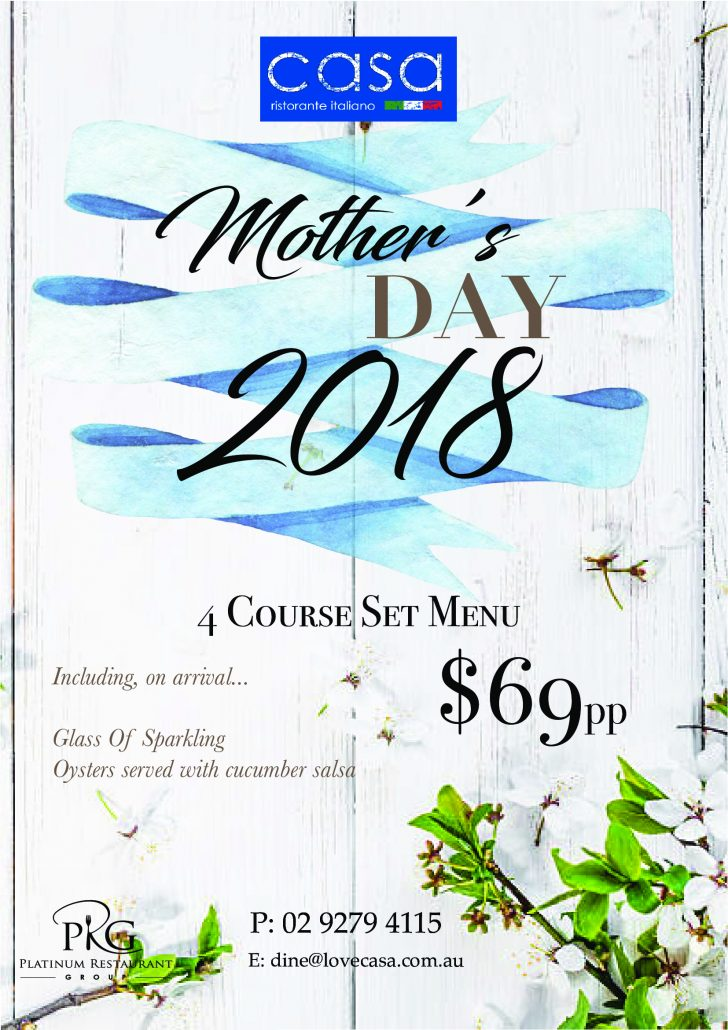 Casa Mother's Day 2018