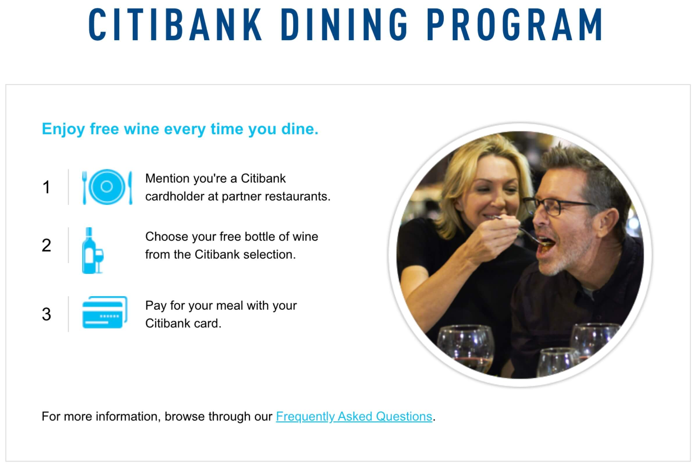 How to use Citibank Dining Program