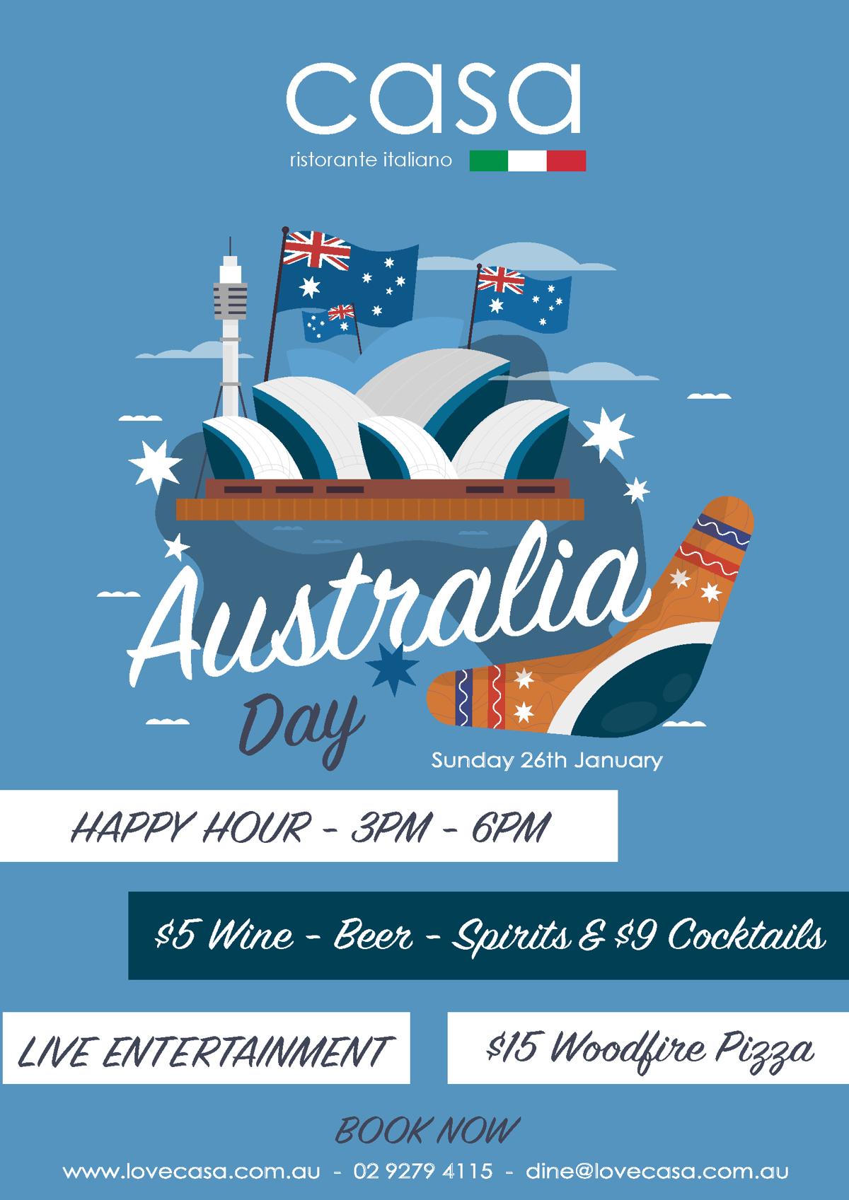 Australia-Day 2020 at Casa Restaurant King St Wharf
