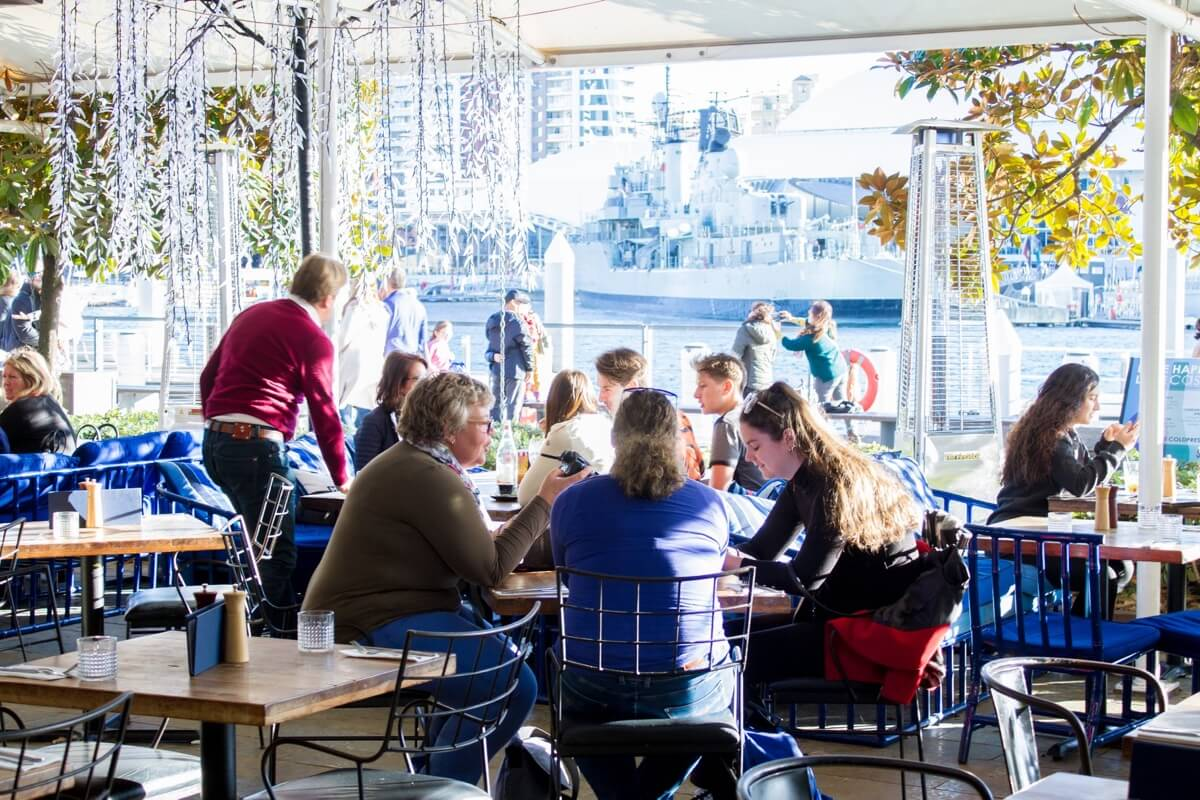 Casa does a Fast Express Lunch at King Street Wharf 1